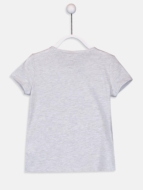 %60 Pamuk %40 Polyester %100 Pamuk Kısa Kol Penye Standart Baskılı Tişört Bisiklet Yaka Kız Çocuk Baskılı Pamuklu Tişört