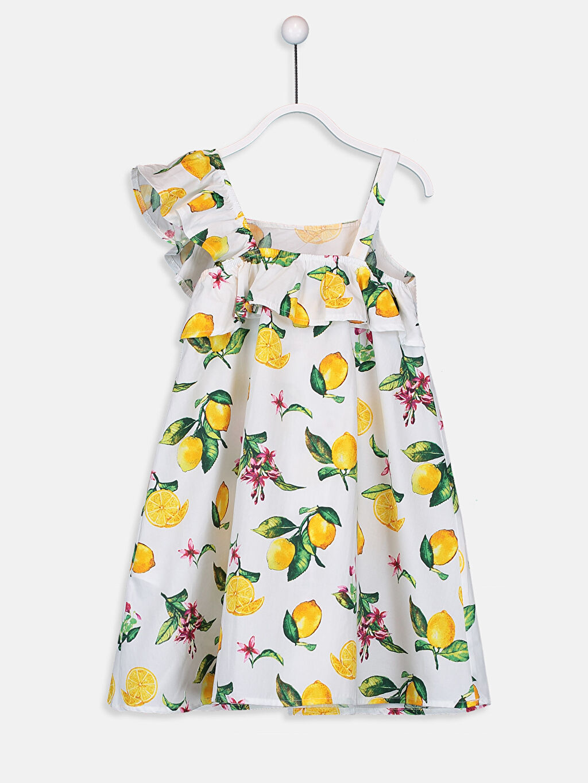 Kız Çocuk Kız Çocuk Fırfır ve Omuz Detaylı Elbise