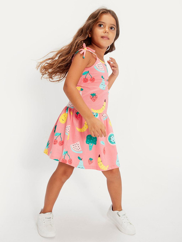Kız Çocuk Kız Çocuk Baskılı Elbise