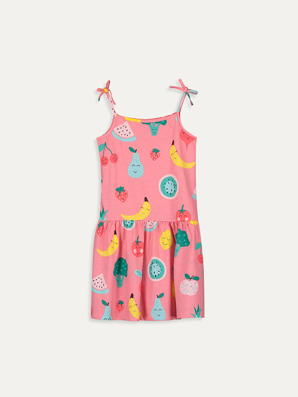 Pembe Kız Çocuk Baskılı Elbise 9SY625Z4 LC Waikiki