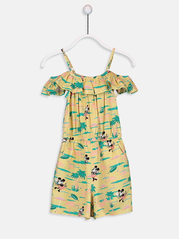 Sarı Kız Çocuk Minnie Mouse Pamuklu Tulum 9SY888Z4 LC Waikiki