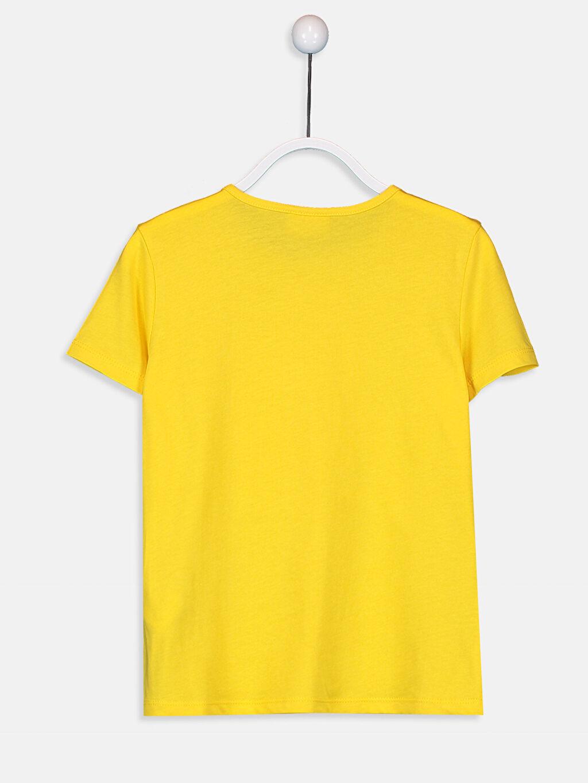%100 Pamuk %100 Pamuk Bisiklet Yaka Kısa Kol Penye Standart Baskılı Tişört Kız Çocuk Baskılı Pamuklu Tişört