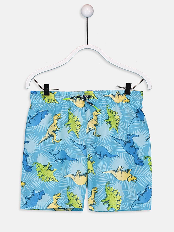 %100 Polyester Erkek Çocuk Baskılı Yüzme Takım