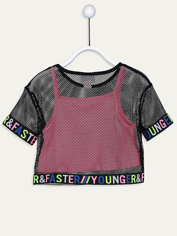 Kız Çocuk Kız Çocuk Fileli Tişört ve Atlet