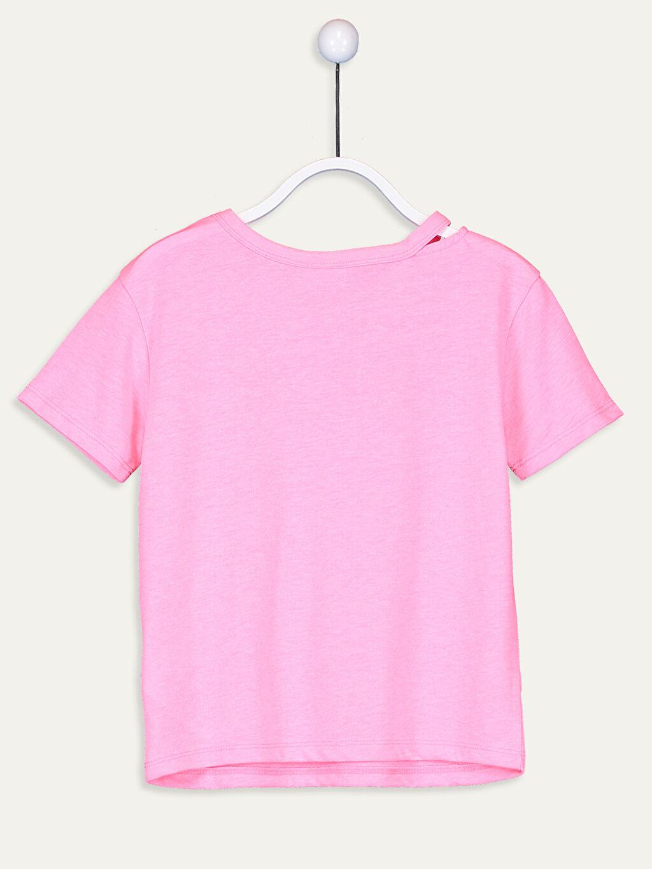 %35 Pamuk %65 Polyester Penye Standart Baskılı Tişört Bisiklet Yaka Kısa Kol Kız Çocuk Yazı Baskılı Tişört