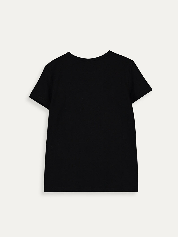 Kız Çocuk Kız Çocuk Çift Yönlü Payetli Pamuklu Tişört