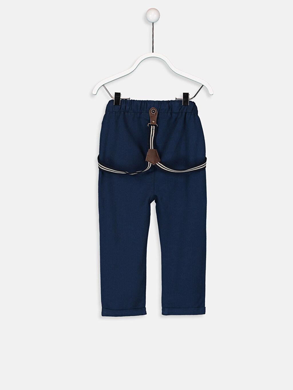 %72 Polyester %28 ELASTODİEN %100 Pamuk %100 Pamuk Standart Astarsız Pantolon Askı Düz Erkek Bebek Pantolon Ve Pantolon Askısı