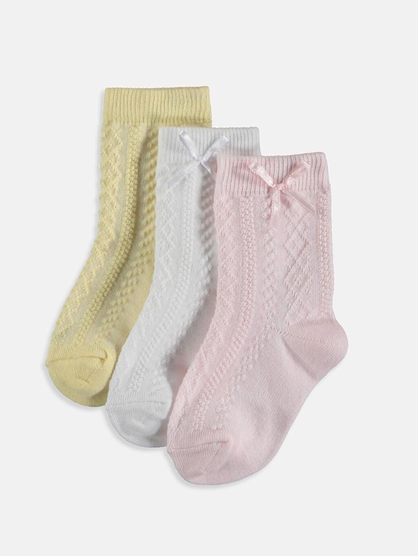 Çok Renkli Kız Bebek Soket Çorap 3'lü 9S2140Z1 LC Waikiki