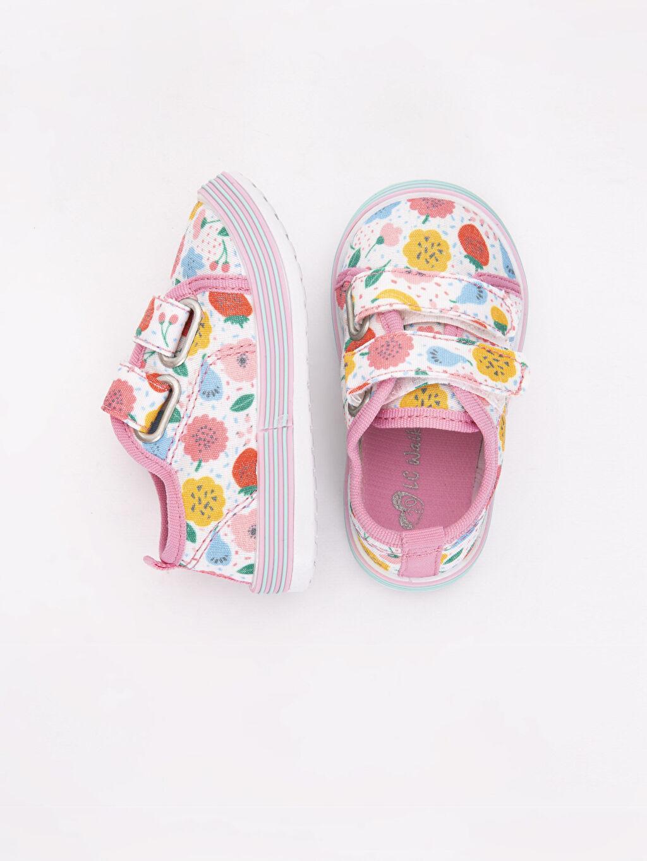 %0 Tekstil malzemeleri (%100 poliester) Tekstil Malzeme Sneaker Kısa(0-2cm) Cırt Cırt Kısa Kız Bebek Baskılı Spor Ayakkabı