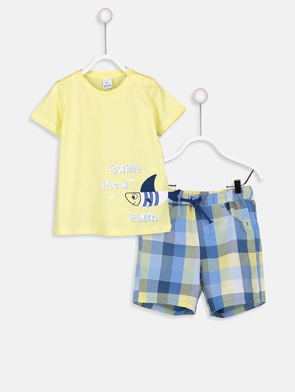 Sarı Erkek Bebek Tişört Ve Şort 9S4029Z1 LC Waikiki