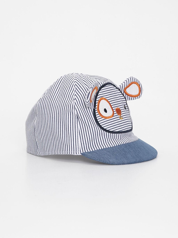 Lacivert Erkek Bebek Çizgili Şapka 9S6031Z1 LC Waikiki