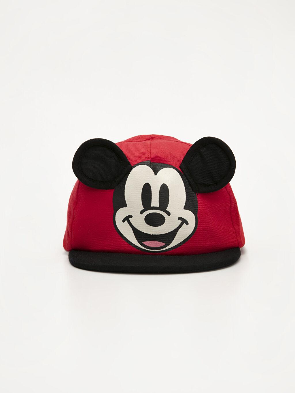 %100 Pamuk %100 Pamuk Şapka Dokuma Astar Erkek Bebek Mickey Mouse Şapka