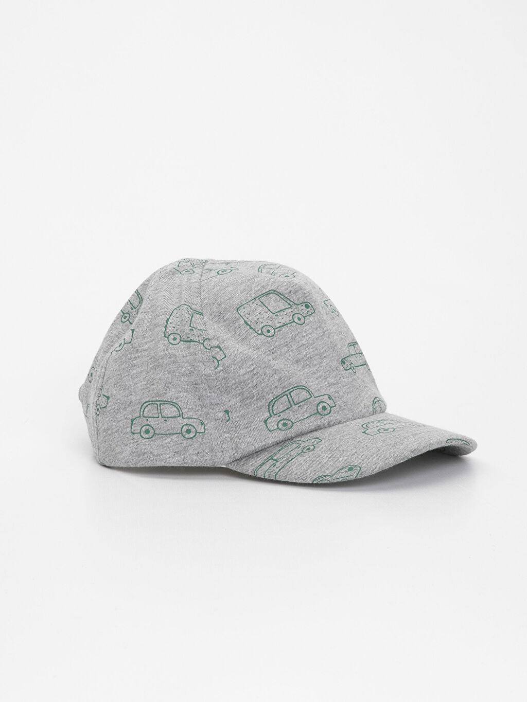 Gri Erkek Bebek Desenli Şapka 9S6085Z1 LC Waikiki