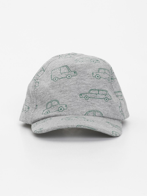 %100 Pamuk %100 Pamuk Astarsız Penye Şapka Erkek Bebek Desenli Şapka