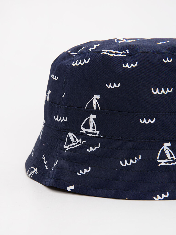 %100 Pamuk %100 Pamuk %100 Pamuk Şapka Dokuma Astar Erkek Bebek Desenli Şapka