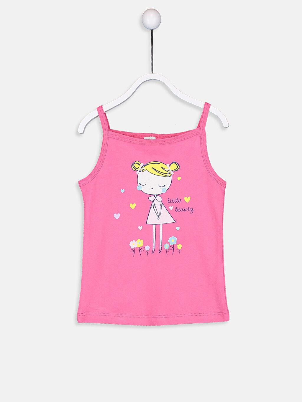 Kız Bebek Kız Bebek Baskılı Atlet 2'li