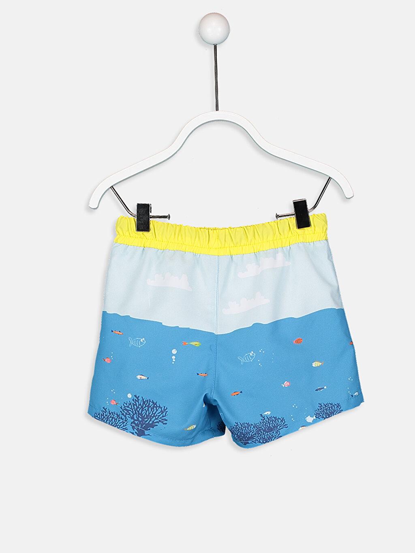 %100 Polyester %100 Polyester Boxer Yüzme Şort Aksesuarsız Baskılı Erkek Bebek Desenli Mayo