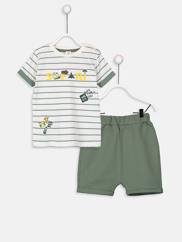 Yeşil Erkek Bebek Takım 2'li  9S6884Z1 LC Waikiki