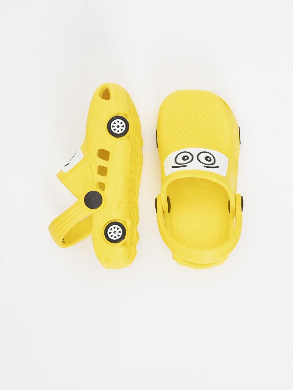 Sandalet Günlük Tokalı Erkek Bebek Desenli Sandalet