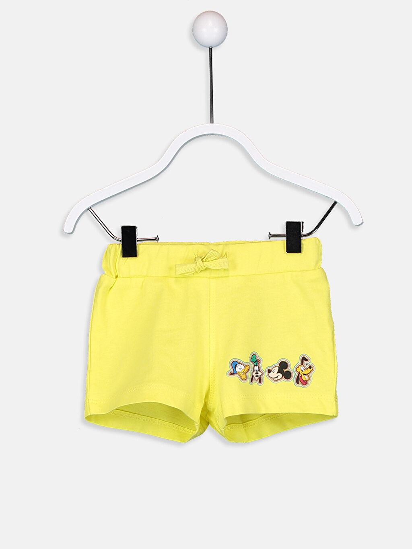 LC Waikiki Ekru Erkek Bebek Mickey Mouse Baskılı Tişört Ve Şort
