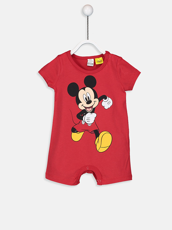 %100 Pamuk %100 Pamuk Aksesuarsız Patiksiz Astarsız Bisiklet Yaka Tulum Dolgusuz Penye Erkek Bebek Mickey Mouse Baskılı Tulum