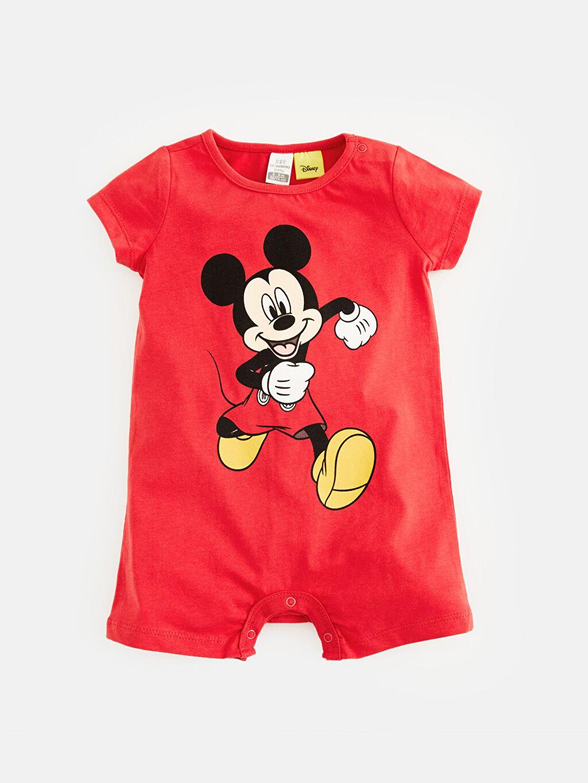 Kırmızı Erkek Bebek Mickey Mouse Baskılı Tulum 9S9311Z1 LC Waikiki