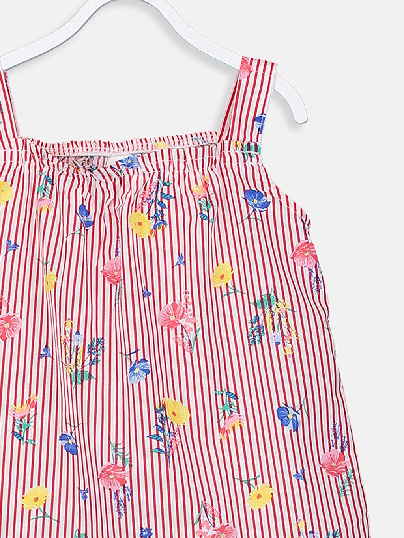 Kız Bebek Kız Bebek Desenli Poplin Bluz