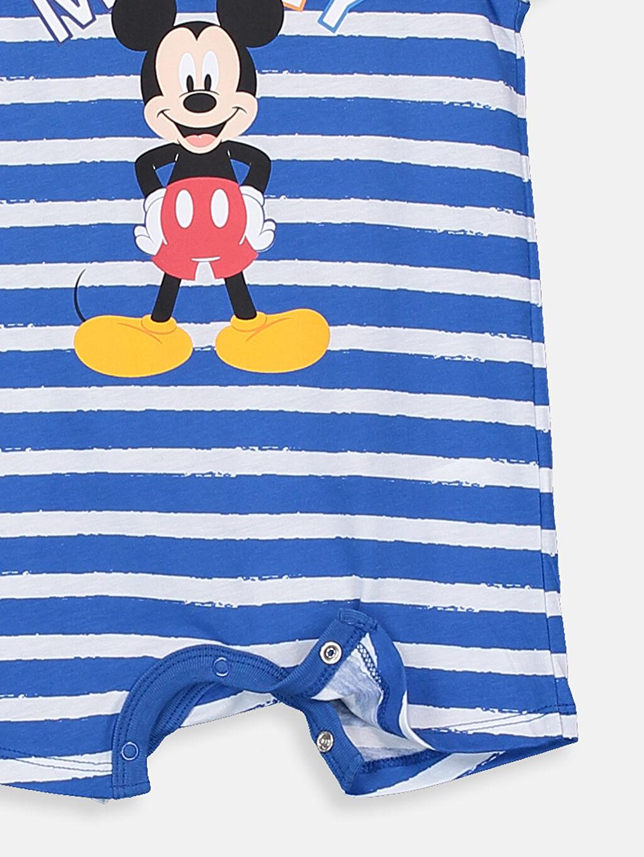 %100 Pamuk Erkek Bebek Mickey Mouse Baskılı Tulum