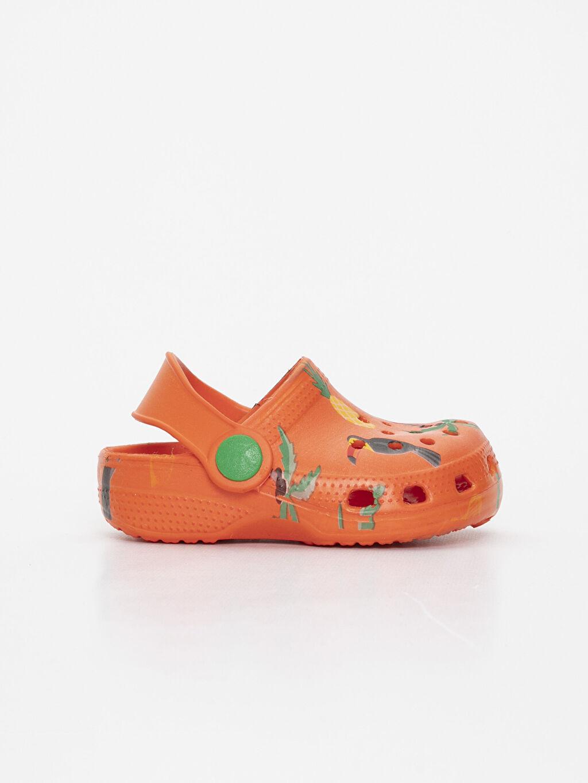 Turuncu Erkek Bebek Baskılı Sandalet 9SG761Z1 LC Waikiki