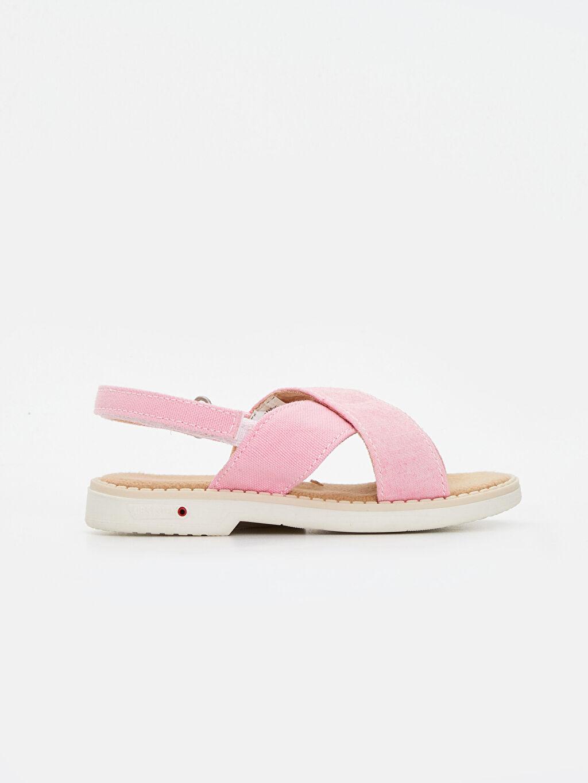 %0 Tekstil malzemeleri (%100 poliester) Sandalet Kısa PU Astar Kısa(0-2cm) Cırt Cırt Kız Bebek Cırt Cırtlı Sandalet