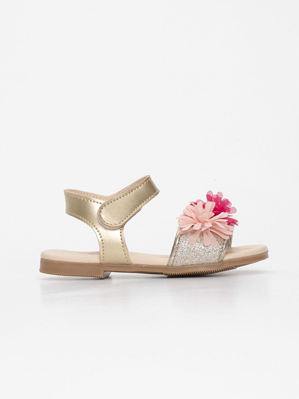 %0 Diğer malzeme (poliüretan) %0 Tekstil malzemeleri (%100 poliester) Sandalet Kısa PU Astar Kısa(0-2cm) Diğer Kız Bebek Deri Görünümlü Sandalet