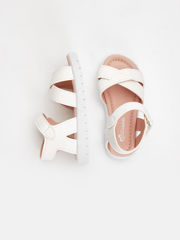 %0 Diğer malzeme (poliüretan) Kısa(0-2cm) Kısa PU Astar Sandalet Kız Bebek Cırt Cırtlı Sandalet