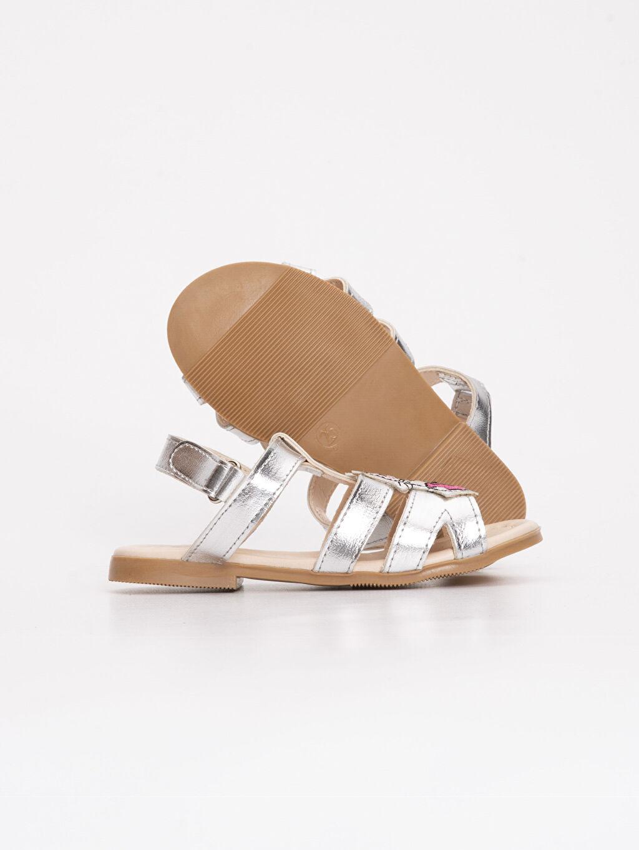 Kız Bebek Kız Bebek Parlak Görünümlü Sandalet