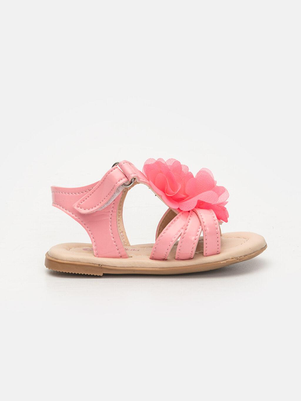 Pembe Kız Bebek Çiçek Desenli Sandalet 9SJ578Z1 LC Waikiki