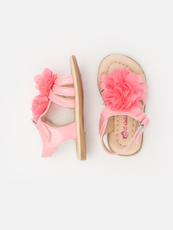 %0 Diğer malzeme (poliüretan) %0 Tekstil malzemeleri (%100 poliester) Kısa(0-2cm) Kısa PU Astar Sandalet Kız Bebek Çiçek Desenli Sandalet