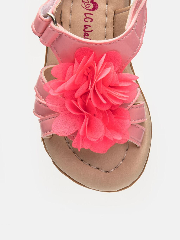LC Waikiki Pembe Kız Bebek Çiçek Desenli Sandalet