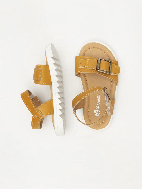 %0 Diğer malzeme (poliüretan) Kısa(0-2cm) Cırt Cırt Kısa PU Astar Sandalet Kız Bebek Deri Görünümlü Sandalet