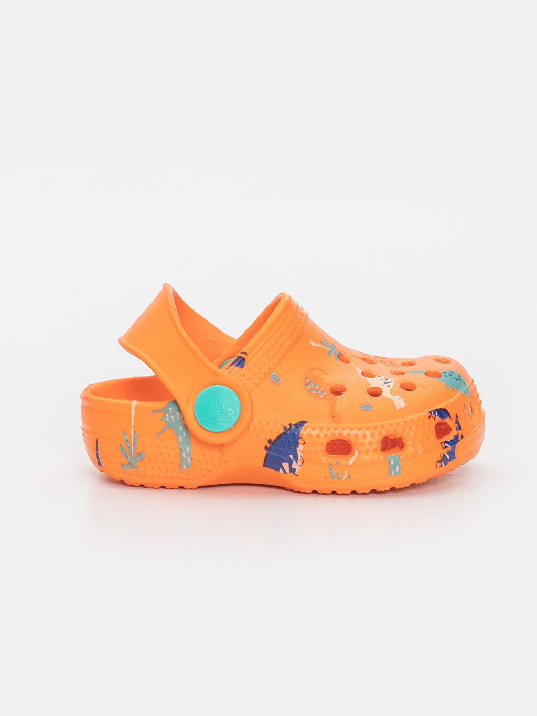 Turuncu Erkek Bebek Baskılı Sandalet 9SK039Z1 LC Waikiki