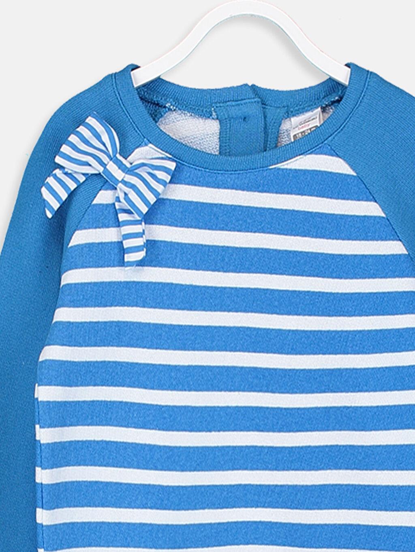 Kız Bebek Kız Bebek Çizgili Sweatshirt