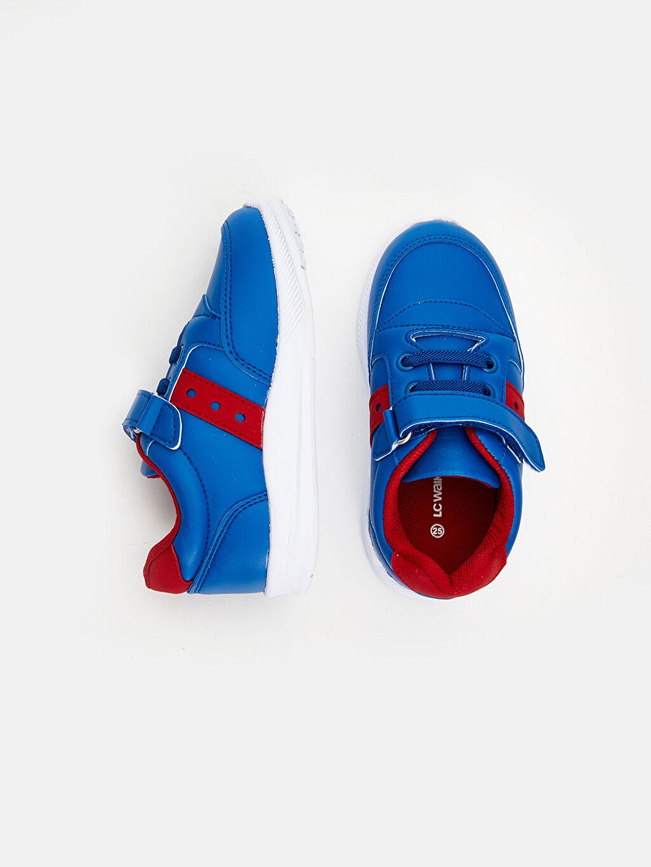 Diğer malzeme (poliüretan) Tekstil malzemeleri Günlük Kısa Penye Astar Bağcık ve Cırt Cırt Sneaker Erkek Bebek Spor Ayakkabı