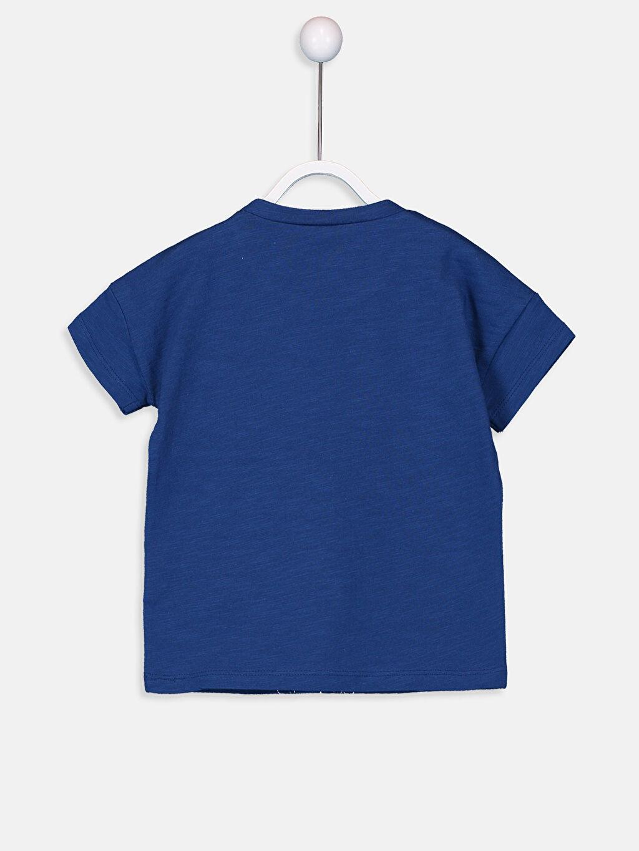 %100 Pamuk %100 Pamuk Bisiklet Yaka Kısa Kol Penye Standart Baskılı Tişört Erkek Bebek Baskılı Pamuklu Tişört