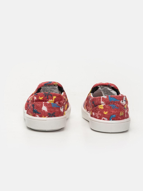 Erkek Bebek Desenli Düz Ayakkabı