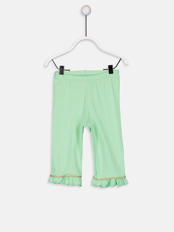 Yeşil Kız Bebek Pamuklu Tayt 9SQ757Z1 LC Waikiki
