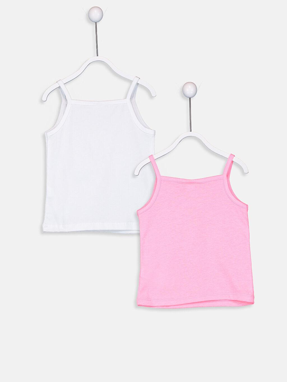 %52 Pamuk %48 Polyester Standart İç Giyim Atlet Penye Kız Bebek Pamuklu Atlet 2'li