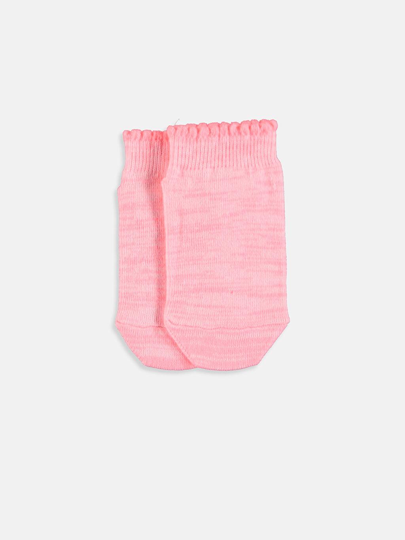 %70 Pamuk %6 Polyester %23 Poliamid %1 Elastan Dikişli Günlük Orta Kalınlık Patik Çorap Düz Kız Bebek Patik Çorap 4'lü