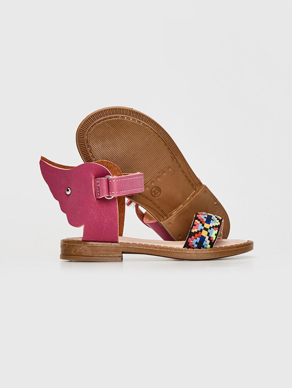 Kız Bebek Kız Bebek Desenli Sandalet
