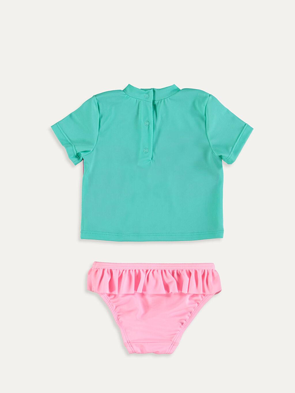 %79 Polyester %21 Elastan %90 Polyester %10 Elastan Mayo Mayo Kız Bebek Yüzme Takım