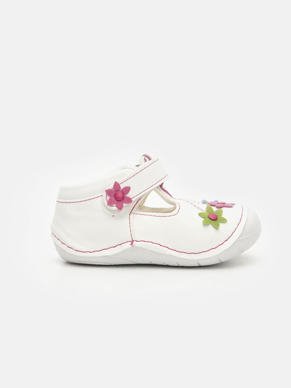 Beyaz Kız Bebek İlk Adım Çiçekli Ayakkabı 9SV471Z1 LC Waikiki