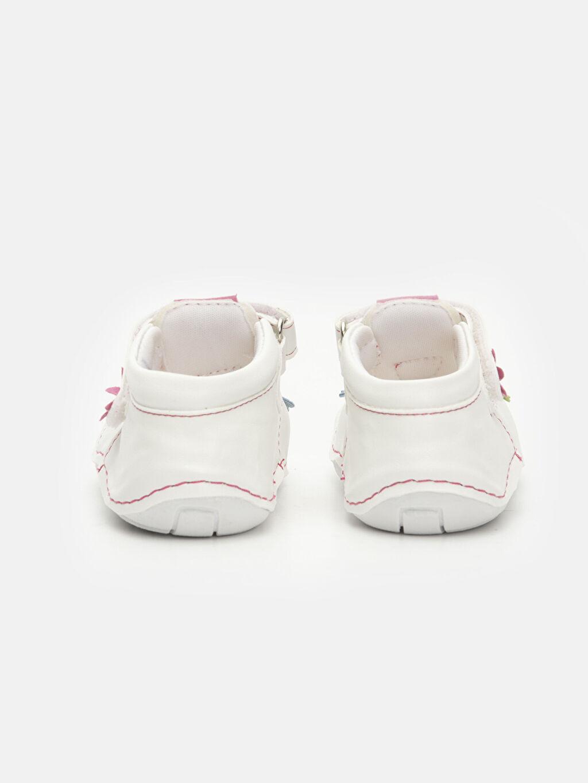 Kız Bebek İlk Adım Çiçekli Ayakkabı