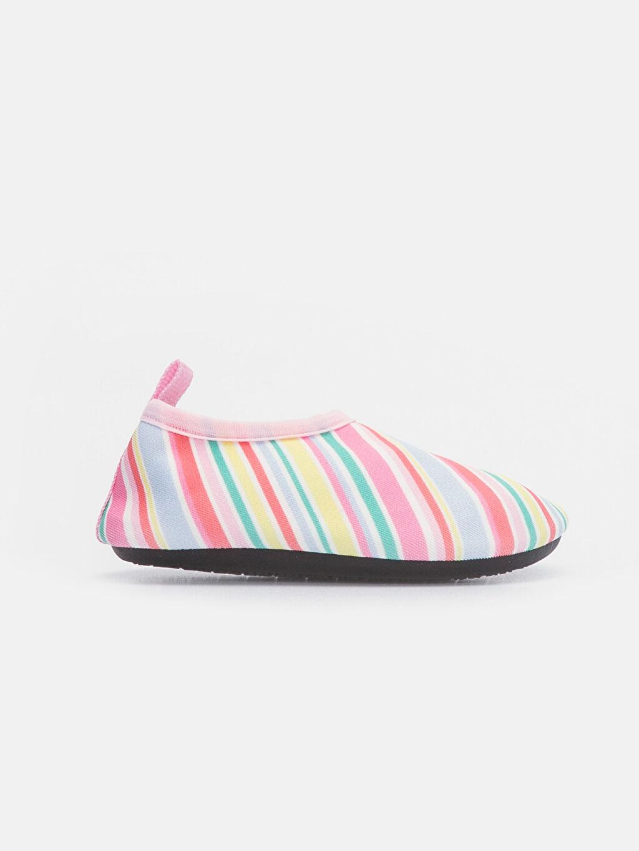 Çok Renkli Kız Bebek Rengarenk Şeritli Deniz Ayakkabısı 9SV542Z1 LC Waikiki